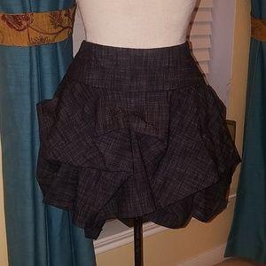 Denim Peplum Skirt